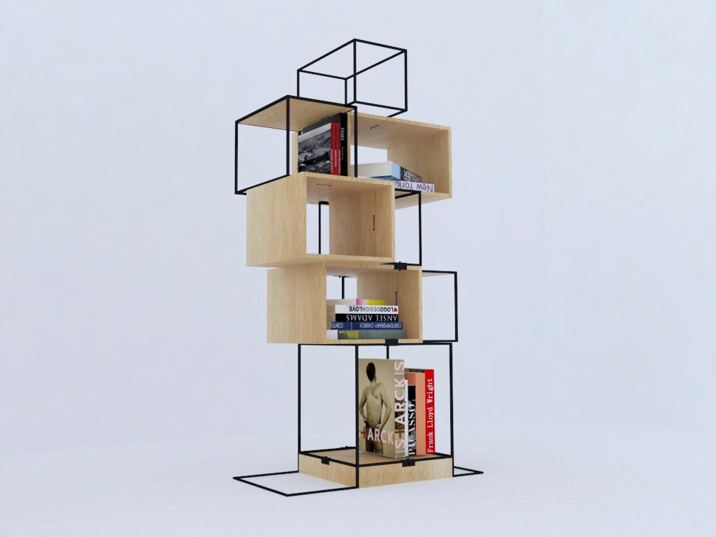 final render bookshelf