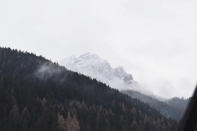 foggy skies.